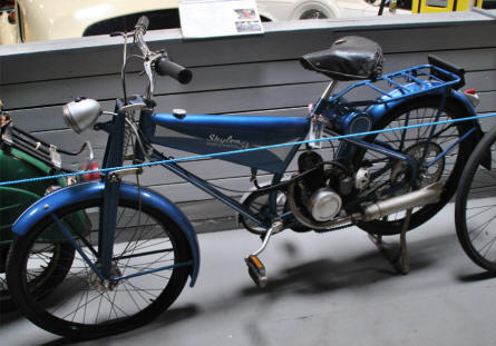 One of the vintage mopeds displayed the the Hjallerup Mechanics Museum.