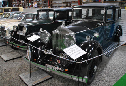 Some of the vintage cars displayed the the Hjallerup Mechanics Museum.