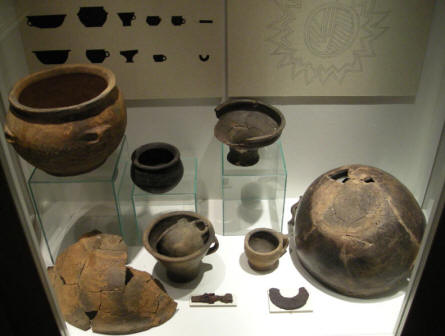 Some of the things that was found during the archaeological excavations at Hvolris Iron Age Village.