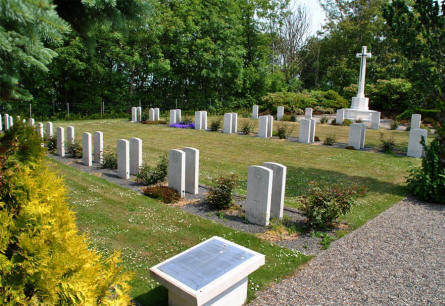 The Commonwealth World War II graves at the Lemvig War Cemetery.
