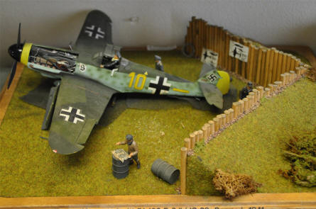 A scale model of a German Messerschmidt Bf-109 displayed at the Royal Danish Air Force Museum in Karup. The military airfield in Karup was founded by the German's during World War II.