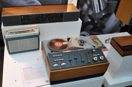 Some of the classic B&O Hi-Fi designs displayed at the Struer / B&O museum.