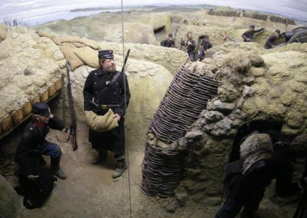 A full-size model of some of the 1864 trenches are displayed inside the Dybøl 1864 Museum.