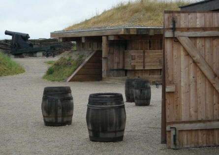 The interior parts (personal huts, gun powder magazines etc.) of the old 1864 fortifications at Dybøl have also been rebuild at the outside exhibition at the Dybøl 1864 Museum.