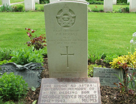 "One of the more ""personel"" Commonwealth graves at Fourfelt Military Cemetery in Esbjerg."