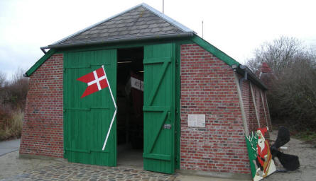 The open-air part of Esbjerg Maritime Museum & Aquarium displays a typical Danish coastal rescue station (with rescue boat) from the beginning of 20th century.