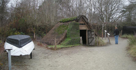 The open-air part of Esbjerg Maritime Museum & Aquarium displays a typical Danish coastal fishing hut from approx. 1900.