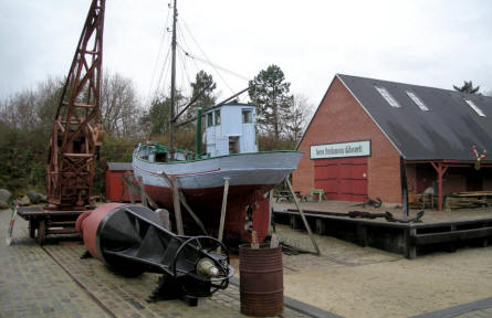 The open-air part of Esbjerg Maritime Museum & Aquarium displays a typical Danish harbour form approx. 1940-1950.