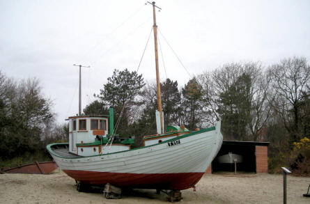 The open-air part of Esbjerg Maritime Museum & Aquarium displays a typical Danish coastal fishing boat from approx. 1960.