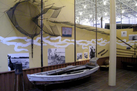A part of the indoor maritime exhibitions part at Esbjerg Maritime Museum & Aquarium.