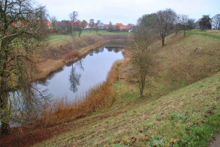 A section of the moat surrounding the Fredericia Ramparts.