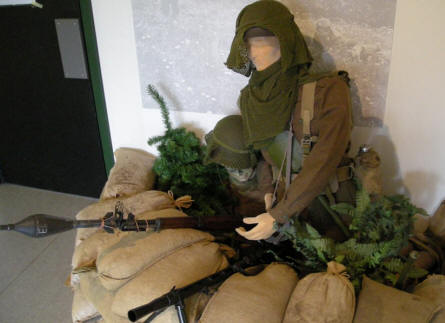 A Danish Home Guard soldier from the 1950's displayed at the Home Guard Museum.