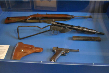 These World War II weapons are a part of the historical collection at the Koldinghus Castle in Kolding.