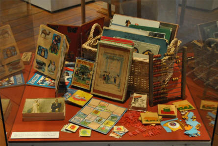 A small part of the historical toys collection at the Koldinghus Castle in Kolding.