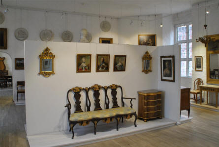 A small part of the historical furniture collection at the Koldinghus Castle in Kolding.