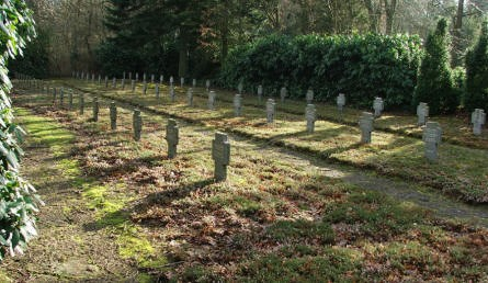 A small part of Oksbøl German War Cemetery.