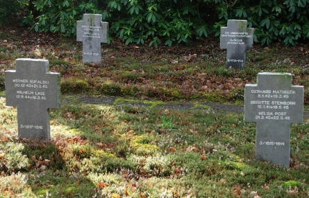Known and unknown German refugees at Oksbøl German War Cemetery.