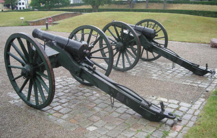 Many of the canons outside Sønderborg Castle were used during the 1864 battle at Dybøl between Denmark and Germany.