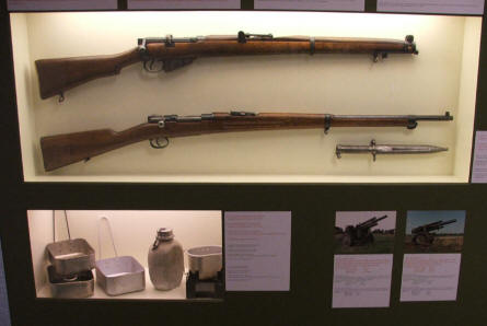 Older rifles used by Danish artillery soldiers. Varde Artillery Museum.