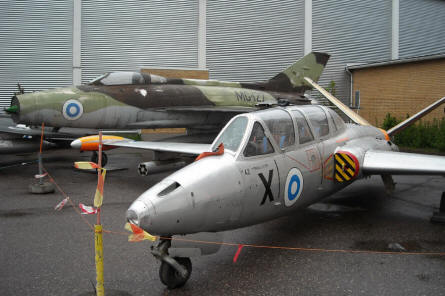 A Russian built MIG-21 and a French built Fouga Magister CM.170 at the Finnish Aviation Museum - Vantaa (Helsinki).