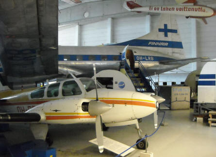 Civilian aircrafts of different sizes at the Finnish Aviation Museum - Vantaa (Helsinki).