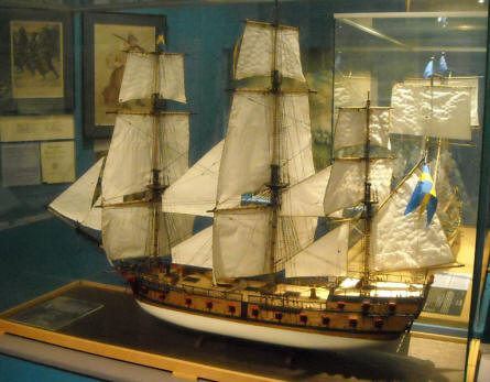 A part of the naval history collection at Helsinki Military Museum.