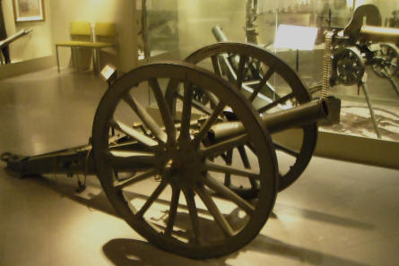 A small canon at Helsinki Military Museum.