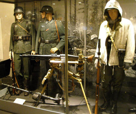 A part of the World War II collection at Helsinki Military Museum.