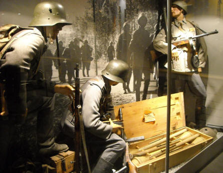 German soldiers at the World War II collection at Helsinki Military Museum.
