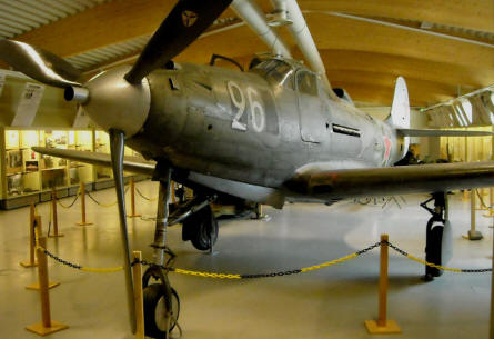 A very unique World War II Bell P-39 Aircobra in Russian markings at the Anti-Aircraft Museum at Tuusula.