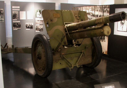 One of the many vintage canons displayed at the in-door exhibition at the Artillery Museum at Hämeenlinna.