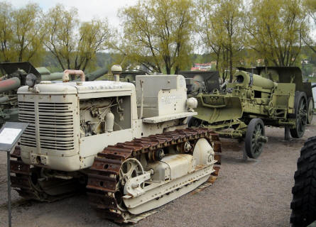 One of the artillery tractors displayed at the out-door exhibition at the Artillery Museum at Hämeenlinna.