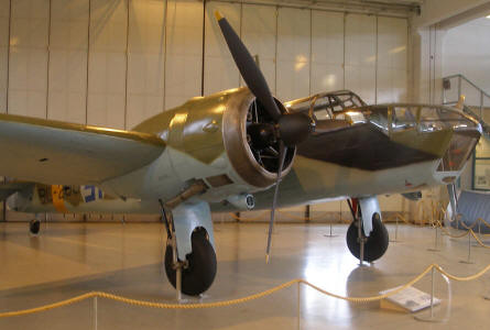 British built Bristol Blenheim (World War II bomber) - used by the Finish Air Force - at the Aviation Museum of Central Finland.