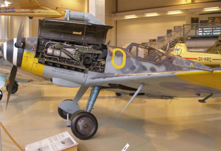 German World War II Messerschmitt Bf-109 - used by the Finish Air Force - at the Aviation Museum of Central Finland.