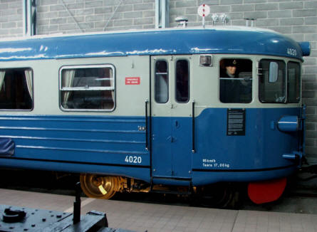 One of the vintage trains displayed at the Finnish Railway Museum in Hyvinkää.