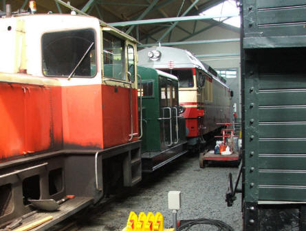 Trains of all sizes are displayed at the Finnish Railway Museum in Hyvinkää.