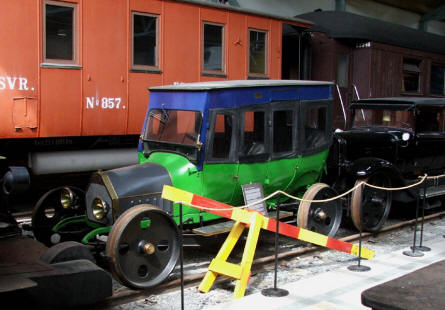 Some of the more special vintage railway vehicles displayed at the Finnish Railway Museum in Hyvinkää.