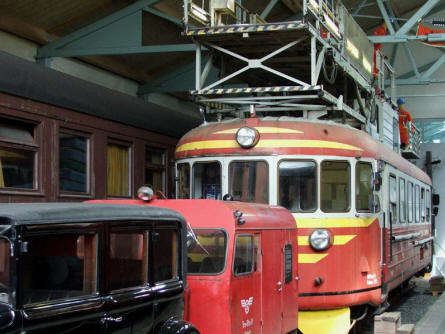 Vintage trains and vehicles of all kinds are displayed at the Finnish Railway Museum in Hyvinkää.
