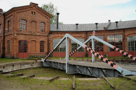 A part of the railway garage that is a used to house the Finnish Railway Museum in Hyvinkää.