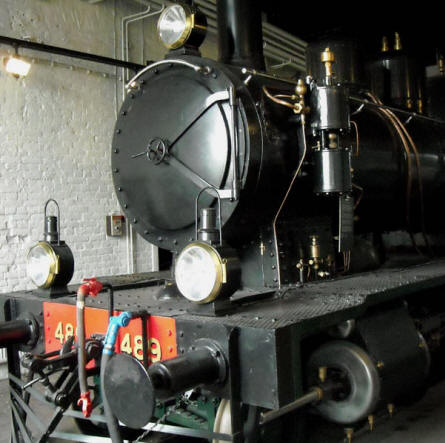 One of the vintage steam locomotives displayed at the Finnish Railway Museum in Hyvinkää.
