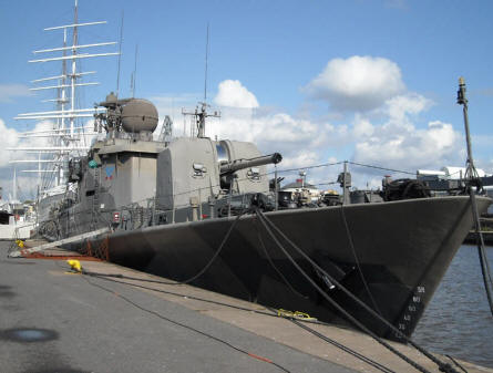 The Finnish Nay Corvette Karjala (built in 1968) that is a part of Forum Marinum - the maritime museum of Turku.