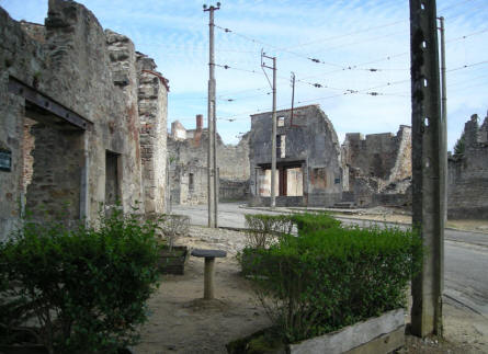 Typical picture from Oradour-sur-Glane.