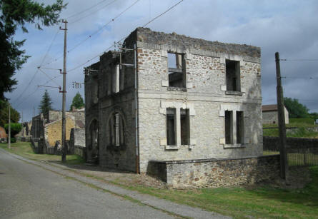 The old post office in Oradour-sur-Glane.