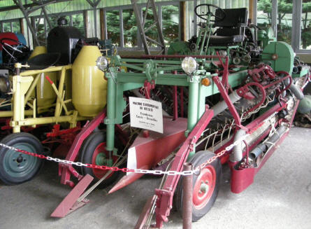 Some of the vineyard farming equipment displayed at Château de Savigny-lès-Beaune.
