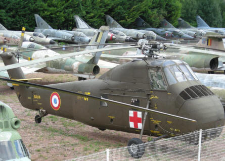 A view of some of the aircrafts and helicopters that are displayed at Château de Savigny-lès-Beaune.