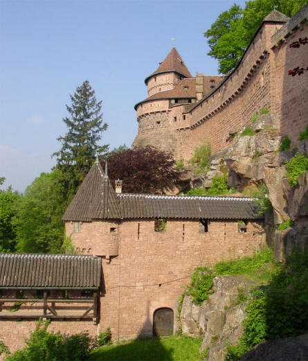 The Castle Haut-Koenigsbourg.