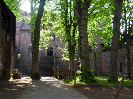 A view inside the Castle Haut-Koenigsbourg.