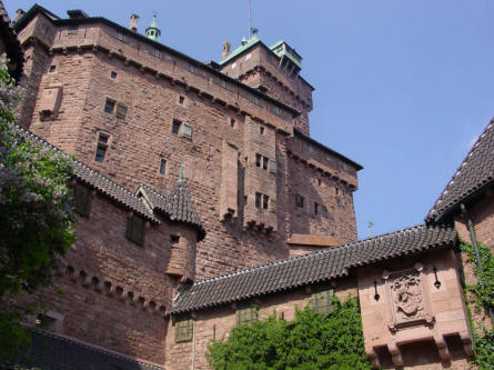 A small section of the Castle Haut-Koenigsbourg.