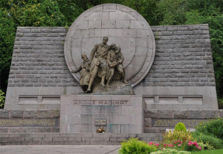 The André Maginot Monument at Fleury-devant-Douaumont - just north east of Verdun.