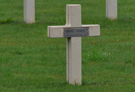 One of the many French World War I graves at the Bras-Sur-Meuse French Cemetery - just north of Verdun.